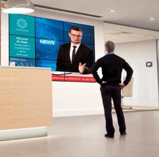 Digital Displays in a reception area