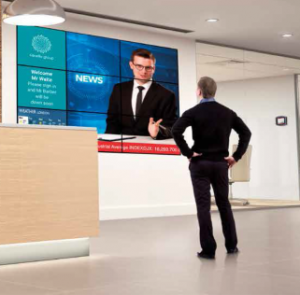 Using digital signage in the reception area